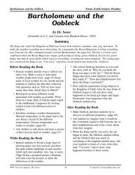 Dr  Seuss Literature Activities  Bartholomew and the Oobleck PDF