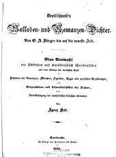 Deutschland's Balladen und Romanzen Dichter von G.A. Bürger bis auf die neueste Zeit ...