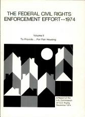 The Federal Civil Rights Enforcement Effort  1974  To provide for fair housing PDF
