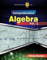 Comprehensive Algebra Vol  1 PDF