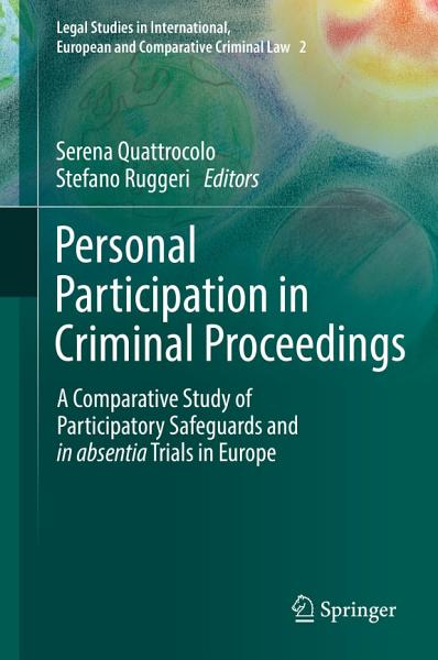 Download Personal Participation in Criminal Proceedings Book
