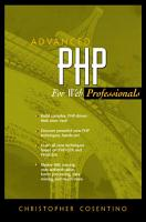 Advanced PHP for Web Professionals PDF