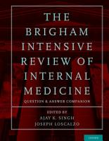 The Brigham Intensive Review of Internal Medicine Question and Answer Companion PDF