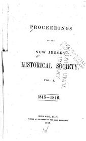 Proceedings of the New Jersey Historical Society: Volumes 1-2
