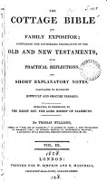 The cottage Bible and family expositor  the authorized tr   with reflections  and notes  by T  Williams PDF