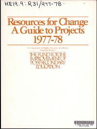 Resources for change  a guide to projects PDF