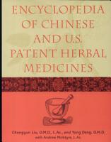 Encyclopedia of Chinese and U S  Patent Herbal Medicines PDF