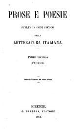 Prose e poesie scelte in ogni seculo della letteratura italiana: Parte 2