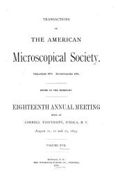 Transactions of the American Microscopical Society: Volume 17