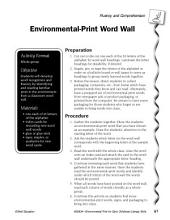 Environmental Print & Fluency/Comprehension: Word Wall
