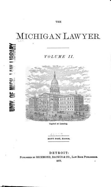 Download The Michigan Lawyer Book