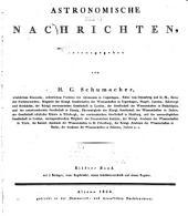 Astronomische Nachrichten: Volumes 11-12