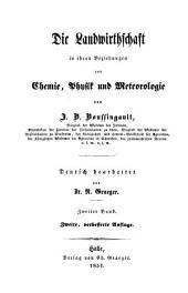 Die Landwirthschaft in ihren Beziehungen zur Chemie, Physik und Meteorologie: Band 2