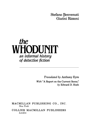 The Whodunit PDF