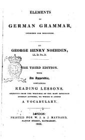 Elements of German Grammar Intended for Beginners by George Henry Noehden