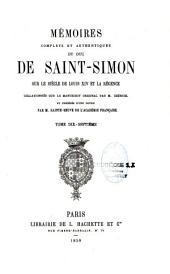 Mémoires complets et authentiques du duc de Saint-Simon sur le siècle de Louis XIV et la Régence: 1691-1723, Volume17