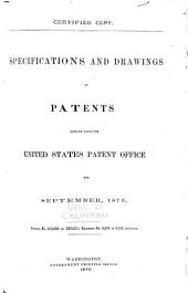 Specifications and Drawings of Patents Issued from the U.S. Patent Office