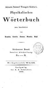 Johann Samuel Traugott Gehler's Physikalisches Wörterbuch: Band 12