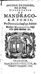 De Mandragorae pomis