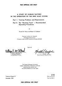 A Study of Human Factors in the Operation of the Nike Ajax System