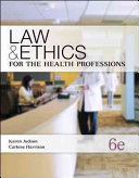 Law   Ethics for the Health Professions PDF