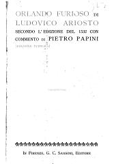 Orlando furioso di Ludovico Ariosto, secondo l'edizione del 1532