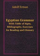 Egyptian Grammar