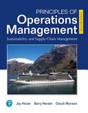 Mylab Operations Management With Pearson Etext    Access Card    for Principles of Operations Mangement PDF