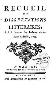 Recueil de dissertations littéraires