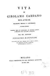 Vita di Girolamo Cardano ...