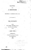 A Discourse Delivered at Cambridge April 8  1810  in the Hearing of the University PDF
