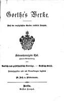 Goethe s Werke0 PDF