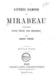 Lettres d'amour de Mirabeau