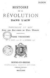 Histoire de la Révolution dans l'Ain: Volume3