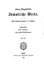 Franz Dingelstedt's sämmtliche Werke: Band 7
