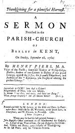 Thanksgiving for a plentiful harvest. A sermon [on Ps. cxlv. 15, 16], etc