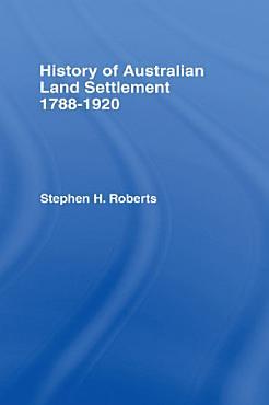 History of Australian Land Settlement PDF