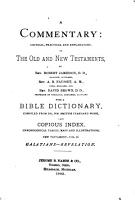 A Commentary  Critical  Practical and Explanatory  on the Old and New Testaments PDF