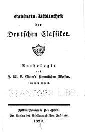 Anthologie aus J.W.L. Gleim's Sämmtlichen Werken...: -3. th. Gedichte
