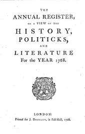 The Annual Register: World Events .... 1768