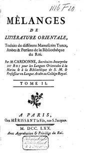Mélanges de littérature orientale: Volume2