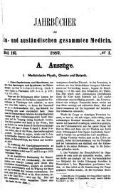 Schmidt's Jahrbücher der in- und ausländischen gesammten Medicin: Bände 193-194