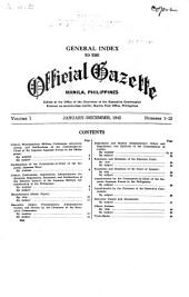 Official Gazette: Volume 1