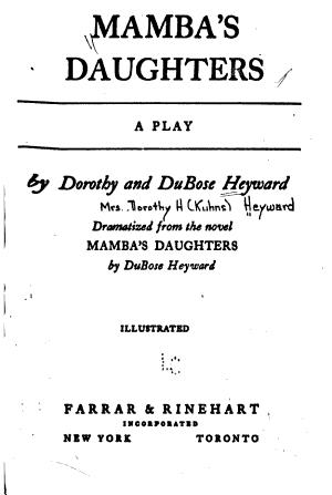 Mamba's Daughters