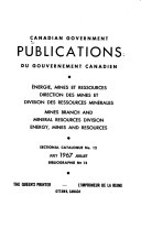 Canadian Government Publications PDF