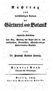 Gartnerei und Botanik: Band 9