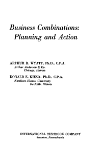 Business Combinations  Planning and Action