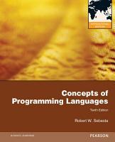 Concepts of Programming Languages  International Edition PDF