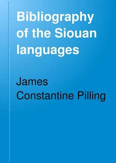 Bibliography of the Siouan Languages PDF