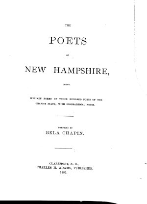 The Poets of New Hampshire